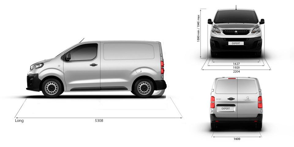 Peugeot Expert Dimensiones